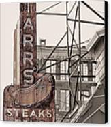 Stars Steaks Frys And Burgers Canvas Print by JC Findley