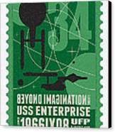 Starschips 34-poststamp - Uss Enterprise Canvas Print by Chungkong Art