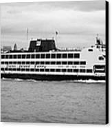 staten island ferry Andrew J Barberi new york usa Canvas Print by Joe Fox