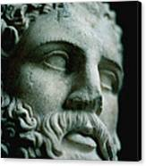 Statue Face Canvas Print by Marcio Faustino