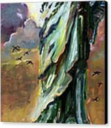 Statue Of Liberty New York  Canvas Print by Ginette Callaway