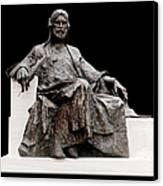 Statue Of Nizami Ganjavi  Canvas Print by Fabrizio Troiani