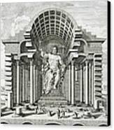Statue Of Olympian Zeus Canvas Print by Johann Bernhard Fischer von Erlach