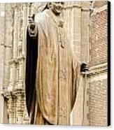 Statue Of Pope John Paul II Canvas Print by Jess Kraft