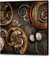 Steampunk - Abstract - Time Is Complicated Canvas Print by Mike Savad