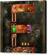Steampunk - Alphabet - E Is For Electricity Canvas Print by Mike Savad
