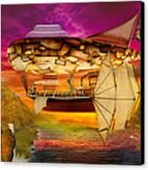 Steampunk - Blimp - Everlasting Wonder Canvas Print by Mike Savad