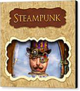 Steampunk Button Canvas Print by Mike Savad