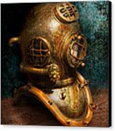Steampunk - Diving - The Diving Helmet Canvas Print by Mike Savad