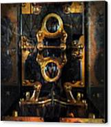 Steampunk - Electrical - The Power Meter Canvas Print by Mike Savad