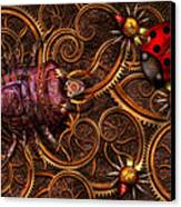 Steampunk - Insect - Itsy Bitsy Spiders Canvas Print by Mike Savad