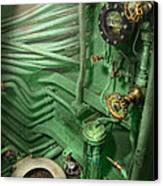 Steampunk - Naval - Plumbing - The Head Canvas Print by Mike Savad