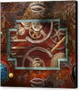 Steampunk - Pandora's Box Canvas Print by Mike Savad