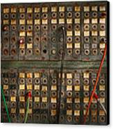 Steampunk - Phones - The Old Switch Board Canvas Print by Mike Savad