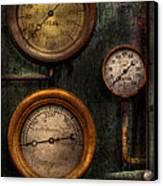 Steampunk - Plumbing - Gauging Success Canvas Print by Mike Savad