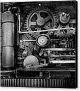 Steampunk - Serious Steel Canvas Print by Mike Savad