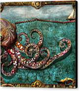 Steampunk - The Tale Of The Kraken Canvas Print by Mike Savad