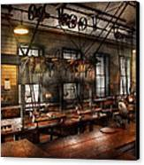 Steampunk - The Workshop Canvas Print by Mike Savad