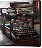 Steampunk - Typewriter - A Really Old Typewriter  Canvas Print by Mike Savad