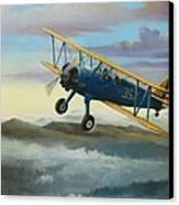 Stearman Biplane Canvas Print by Stuart Swartz