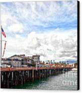 Stearns Wharf Santa Barbara California Canvas Print by Artist and Photographer Laura Wrede