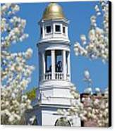 Steeple With Clock Canvas Print by Allan Morrison