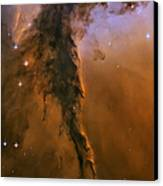 Stellar Spire In The Eagle Nebula Canvas Print by Adam Romanowicz