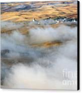 Steptoe Fog Clearing Canvas Print by Mike  Dawson