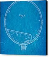 Stevens Roller Coaster Patent Art 1884 Blueprint Canvas Print by Ian Monk