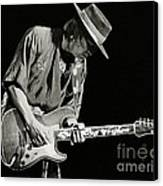 Stevie Ray Vaughan 1984 Canvas Print by Chuck Spang