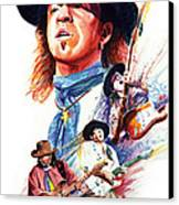 Stevie Ray Vaughn Canvas Print by Ken Meyer jr