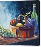 Still Life In Watercolours Canvas Print by Karon Melillo DeVega