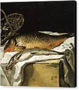 Still Life With Fish Canvas Print by Frederic Bazille