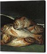 Still Life With Golden Bream Canvas Print by Francisco De Goya