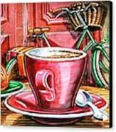 Still Life With Green Dutch Bike Canvas Print by Mark Howard Jones