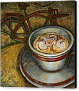 Still Life With Red Cruiser Bike Canvas Print by Mark Howard Jones