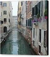 Still Waters In Venice Italy Canvas Print by Jan Moore