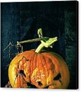 Stingy Jack - Scary Halloween Pumpkin Canvas Print by Edward Fielding