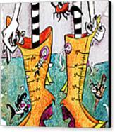 Stivali Acqua Alta - Children Book Illustration - Venezia Canvas Print by Arte Venezia
