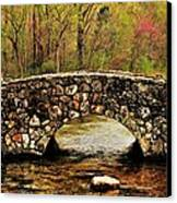 Stone Bridge In The Ozarks Canvas Print by Benjamin Yeager