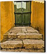 Stone Stair Entranceway  Canvas Print by David Letts