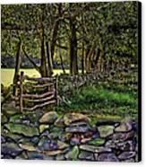 Stone Walled Canvas Print by Tom Prendergast