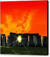 Stonehenge Solstice Canvas Print by Daniel Hagerman