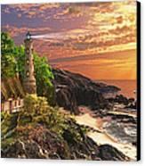 Stoney Cove Lighthouse Canvas Print by Dominic Davison