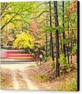 Stop - Beaver's Bend State Park - Highway 259 Broken Bow Oklahoma Canvas Print by Silvio Ligutti