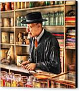 Store - In The General Store Canvas Print by Mike Savad
