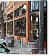 Storefronts In Historic Railroad Square Santa Rosa California 5d25804 Canvas Print by Wingsdomain Art and Photography
