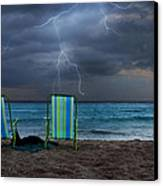 Storm Chairs Canvas Print by Laura Fasulo
