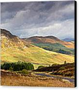 Storm Clouds Over The Glen Canvas Print by Jane Rix