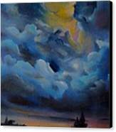 Storm Coming At The Sunset Canvas Print by Alessandra Andrisani